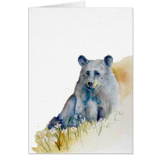 沈痛で青いくま ノートカード