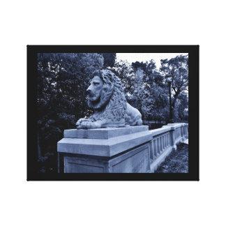 沈痛なライオン キャンバスプリント