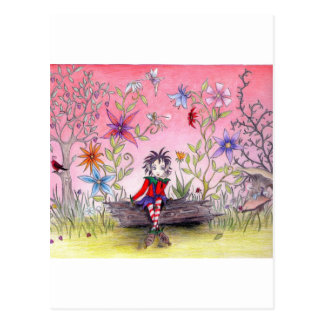 沈痛な小妖精や小人 ポストカード
