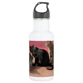 沈痛な気分の3匹の猫 532ML ウォーターボトル