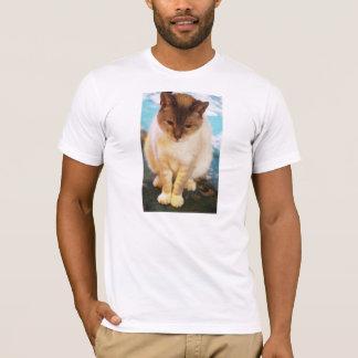 沈痛な猫 Tシャツ