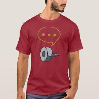 沈黙およびガムテープ Tシャツ