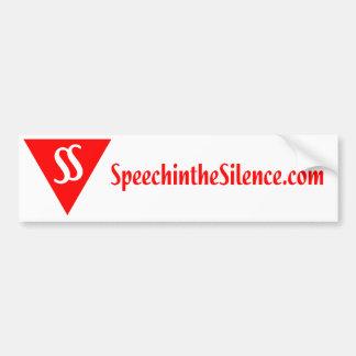 沈黙のバンパーステッカーのスピーチ バンパーステッカー