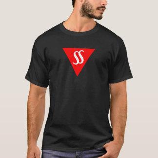 沈黙の暗いTシャツの男性のスピーチ Tシャツ