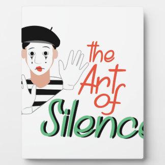 沈黙の芸術 フォトプラーク