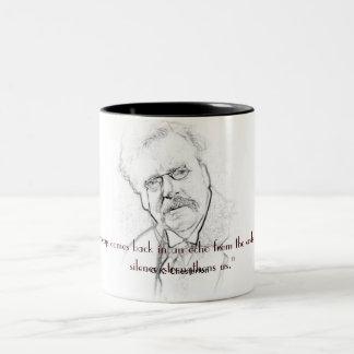 沈黙のG.K. Chesterton ツートーンマグカップ