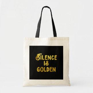 沈黙は金です トートバッグ