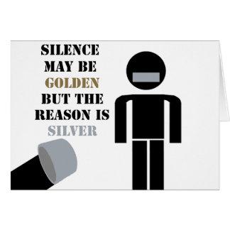 沈黙は金ガムテープのユーモアです カード