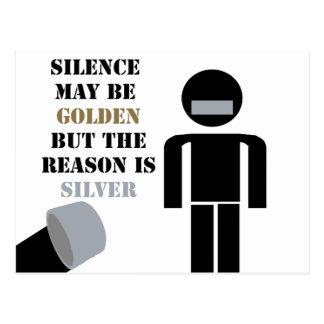 沈黙は金ガムテープのユーモアです 葉書き