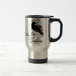 沈黙は金-黒い鳥です トラベルマグ