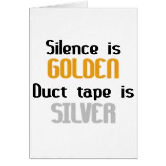 沈黙は金Ductapeです銀です グリーティングカード