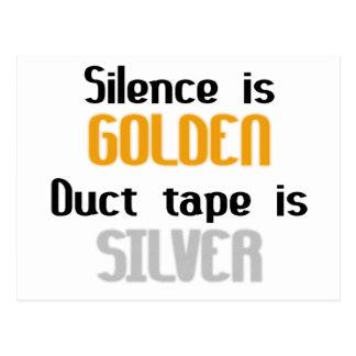 沈黙は金Ductapeです銀です ポストカード