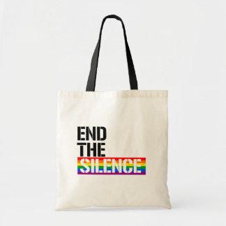 沈黙を- - LGBTQの権利は終えて下さい- トートバッグ