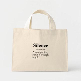 沈黙定義 ミニトートバッグ