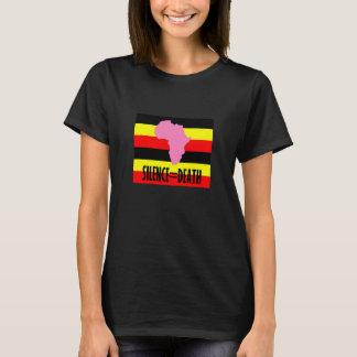 沈黙=ウガンダの死 Tシャツ