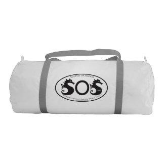 沈黙- LMR (SOS) -の音体育館のバッグ ジムバッグ