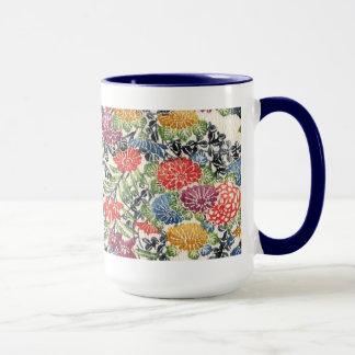 沖縄人のBingataの織物 マグカップ