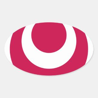沖縄県の旗 楕円形シール