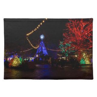 沢山のクリスマスの照明 ランチョンマット