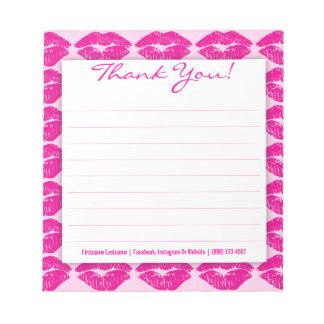 沢山のピンクのキス-カスタムはメモ帳感謝していしています ノートパッド