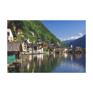 河岸地域の反射のオーストリアのキャンバスプリント キャンバスプリント
