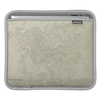 河川の旧式な地図 iPadスリーブ