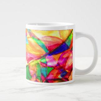 沸騰性の抽象芸術 ジャンボコーヒーマグカップ