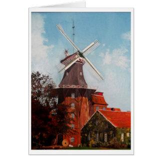 油で絵を描かれるHage Mühle カード