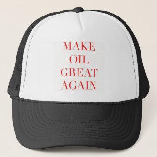 油に素晴らしい服装を再度して下さい キャップ
