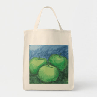 油のパステルの緑のりんご トートバッグ