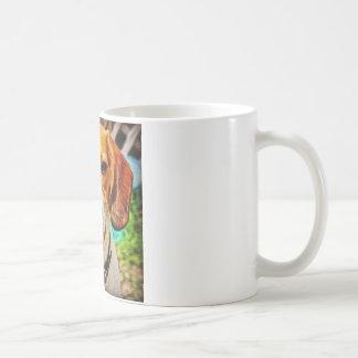 油のビーグル犬 コーヒーマグカップ