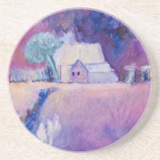 油の農地の絵画の農家 コースター