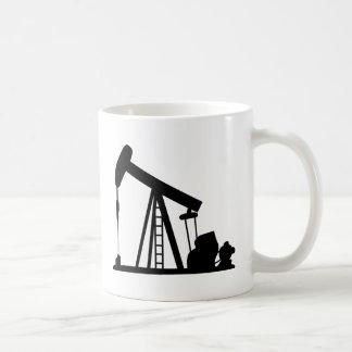油クレーン コーヒーマグカップ