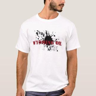 油田のワイオミングのTシャツのステンシル油の汚れ Tシャツ