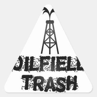 油田の屑 三角形シール