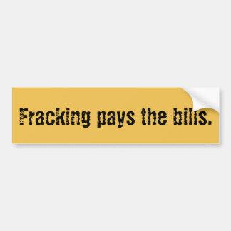 油田のFrac Frackingのバンパーステッカー バンパーステッカー