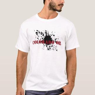 油田のTシャツのコロラド州の油のステンシル油の汚れ Tシャツ