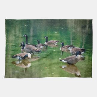 油絵のカナダのガチョウはタオルを設計します キッチンタオル