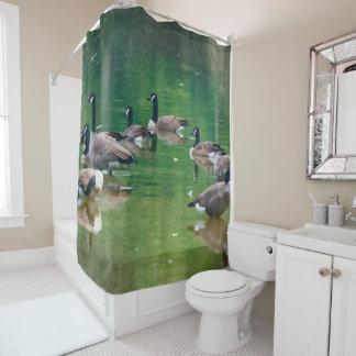 油絵のシャワー・カーテンのカナダのガチョウ シャワーカーテン