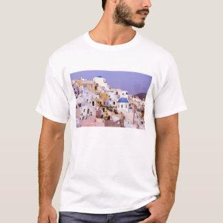 油、Santorini 2の日没 Tシャツ