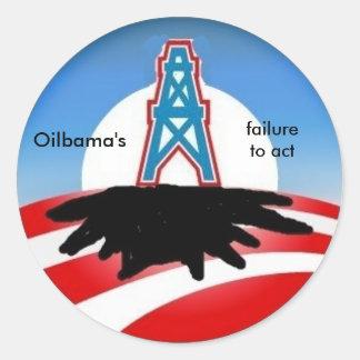 油bama、機能するオバマの失敗- sickers ラウンドシール