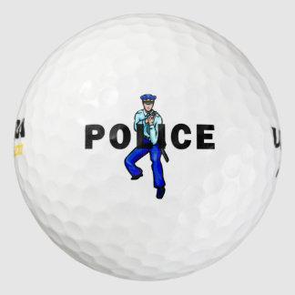治安活動のロゴ ゴルフボール