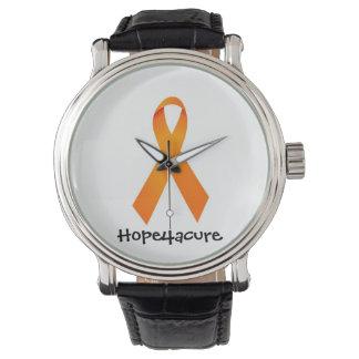 治療のためのオレンジリボンの腕時計RSDの白血病の希望 腕時計