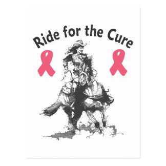 治療のための乗車-ピンクのリボン ポストカード