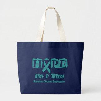治療のための希望-子宮頸癌・ ラージトートバッグ