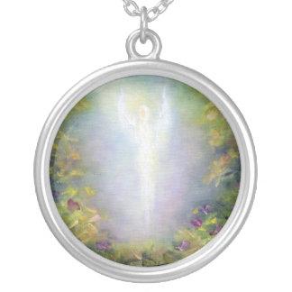 治療のネックレスの天使 シルバープレートネックレス