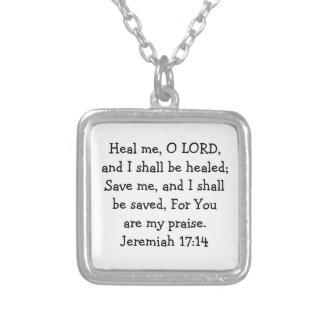 治療のネックレスの聖書の詩 シルバープレートネックレス