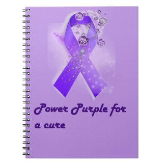 治療のノートのための力の紫色 ノートブック