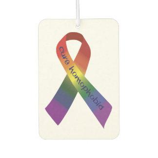 治療の同性愛恐怖症のリボン カーエアーフレッシュナー