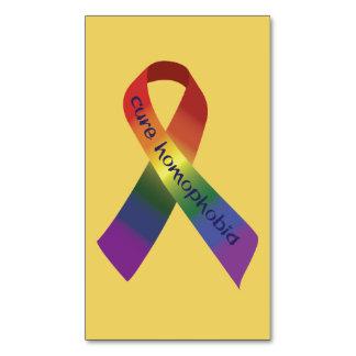 治療の同性愛恐怖症のリボン マグネット名刺